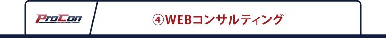 ④WEBコンサルティング